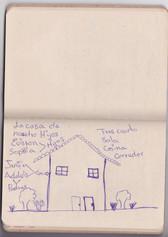 """""""Esta es la casa de nuestros hijos allá en Venezuela. Con lo que vamos ahorrando Arelvis y yo, vamos comprando los materiales y un familiar va construyendo"""" Jennifer, 19."""