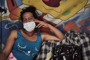 """""""Ha sido duro ser una mujer trans en toda esta experiencia de la migración y la pandemia"""" Antonella, 28."""