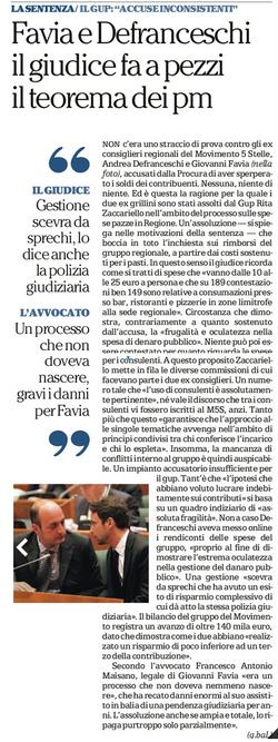 Spese Pazze: assolto Favia