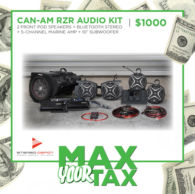 Can-Am RZR Audio Kit