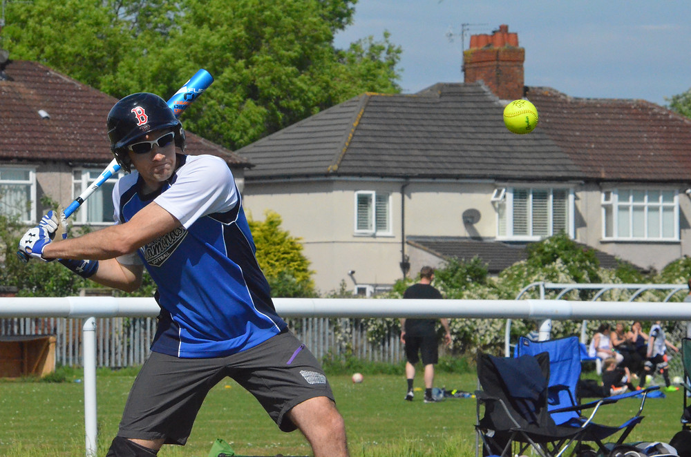 Milton Keynes Seagulls' Anthony Pratt in batting action