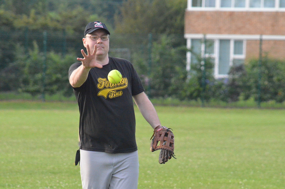 Formby pitcher in action