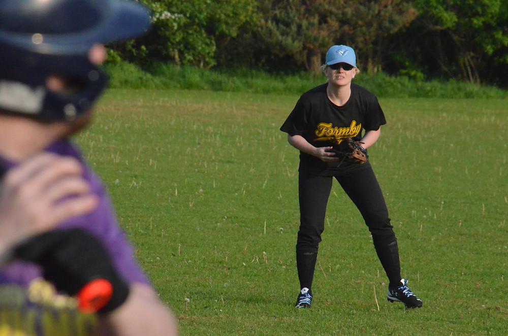 Formby Fins home run scorer Janette Rayton