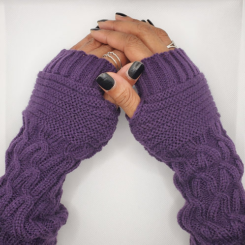 Urban Gaming Arm Warmers- Eggplant