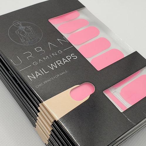 Urban Gaming Nail Wraps- Hot Pink