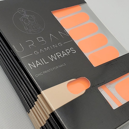 Urban Gaming Nail Wraps- Tangerine