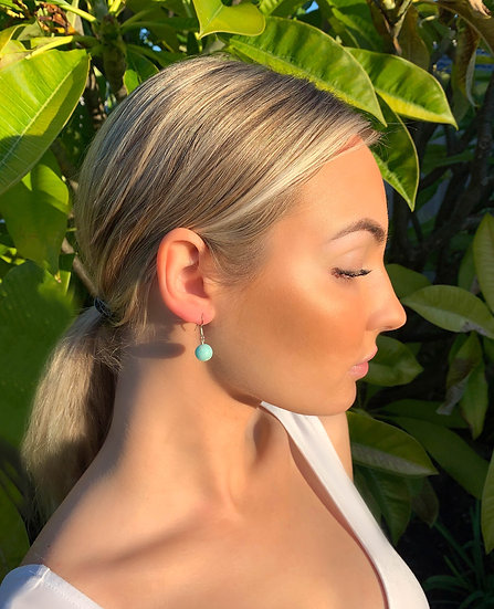 MINIMALIST AMAZONITE EARRINGS