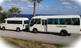 We have 2 buses for transportation to/from weddings, the airport, the beaches and more