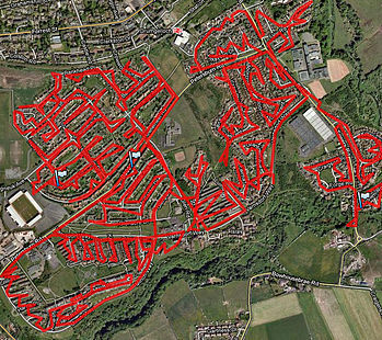 GPS tracked leaflet delivery