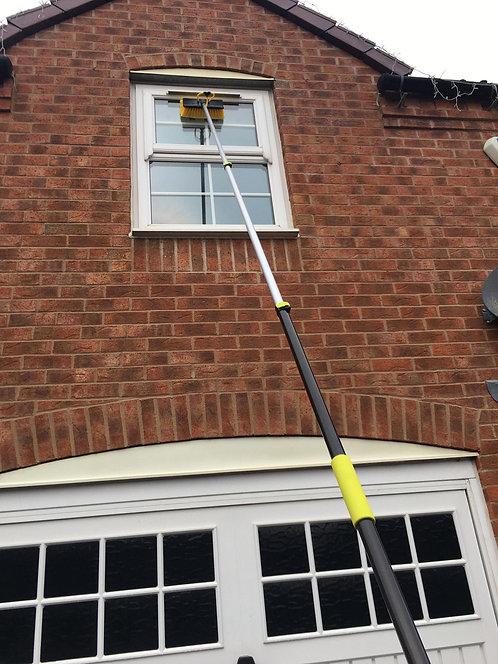 13ft Water Fed Window Cleaning Pole, Hose Fed Window Brush
