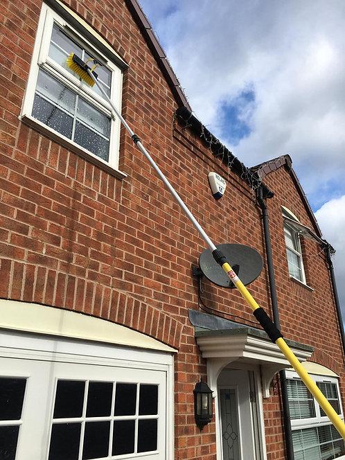 3.5 Meter Pro Water Fed Window Cleaning Brush, Window Cleaner Kit
