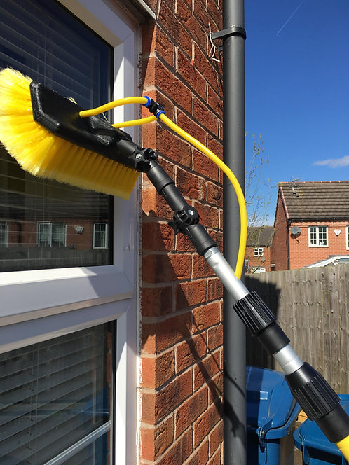 3.8 Meter Water Fed Window Cleaning Pole, Squeegee Brush Equipment