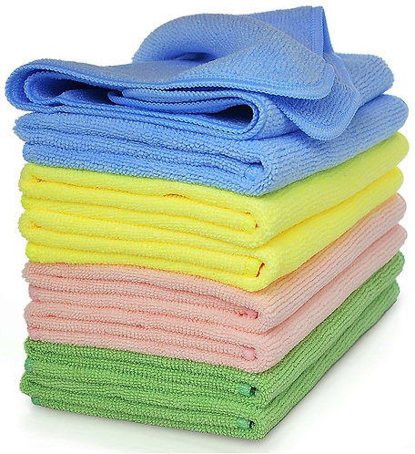 10 microfiber window/glass cleaner cloths