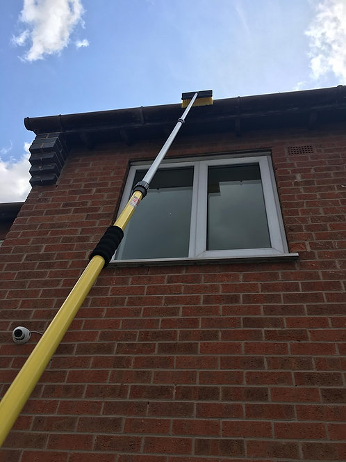 Fascia, Soffit Cleaning Pole, Telescopic Gutter & Fascia Cleaning Brush
