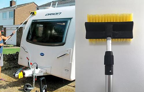 Caravan Cleaning Brush, Telescopic Caravan cleaning Pole, 3.2 Meters Long