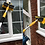 Thumbnail: 11ft Telescopic Window Cleaning Pole, Water Fed Window Cleaning Brush