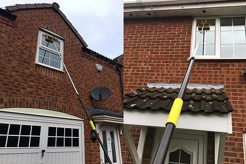 13ft ( 4M ) Water Fed Window Cleaning Pole, Hose Fed Window Brush