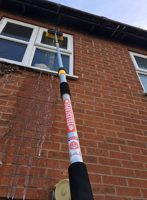 11ft Telescopic Window Cleaning Brush, Water Fed Window Cleaning Pole
