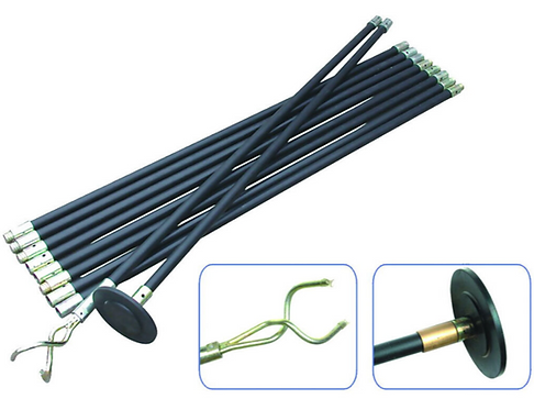 12 Piece Drain Rod Set