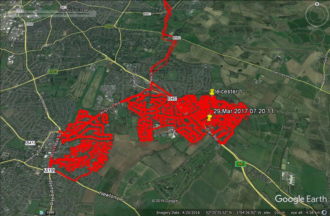 Leicester Leaflet Distribution GPS