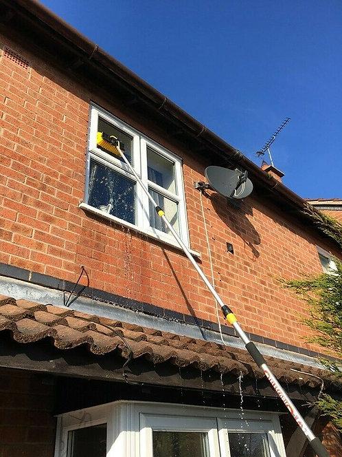 Window Cleaner Pole, Window Washing Brush, Water/Hose Fed Pole