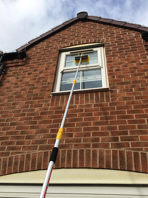 11ft Telescopic Window Cleaning Pole, Water Fed Window Cleaning Brush
