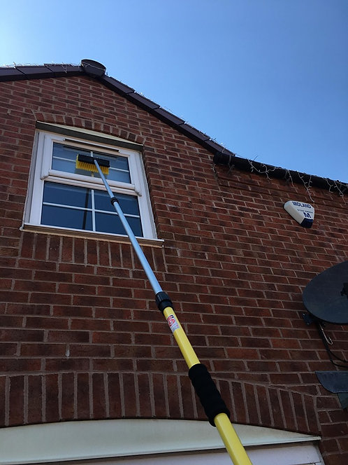 12FT Window Cleaning Brush, Window Cleaners Pole