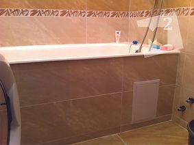 ремонт ванной кафелем