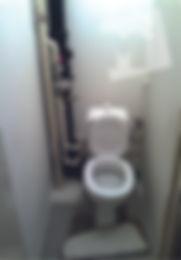туалет покрашен