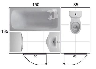 проект ванной в хрущевке