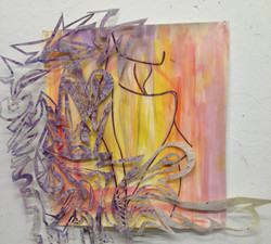 acrylic and lightweight paper