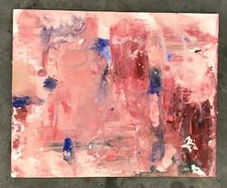 oil paint on chipboard