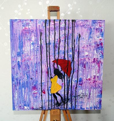 Purple Rain (40x40cm)