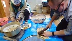 在水源之鄉的老屋,體驗飲食文化|體驗七葉樹果實加工成食品