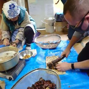 在水源之鄉的老屋,體驗飲食文化 體驗七葉樹果實加工成食品