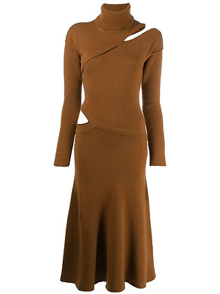 Cashmere Sweater Dress With Slits