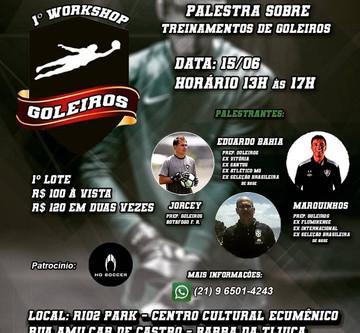 Workshop Goleiros RJ - Junho dia 15/2019. Participe!