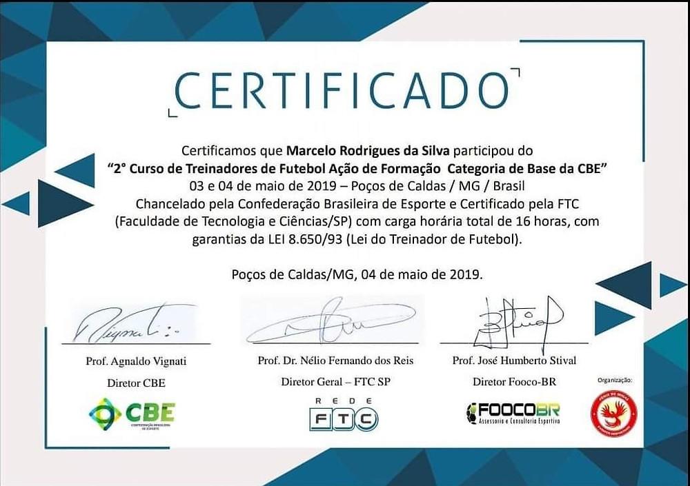 Marcelo Rodrigues - Treinador de Goleiros - ABTG Brasil