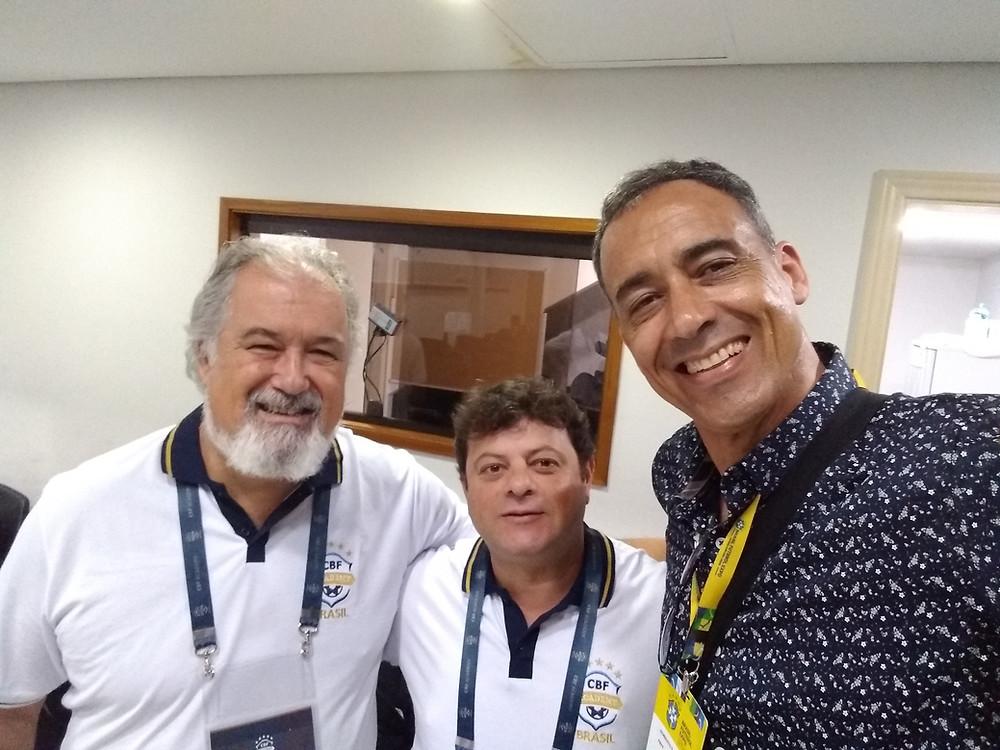 Professor Osvaldo Torres - Educador Maurício Marques - Roberto Palmieri Presidente da ABTG