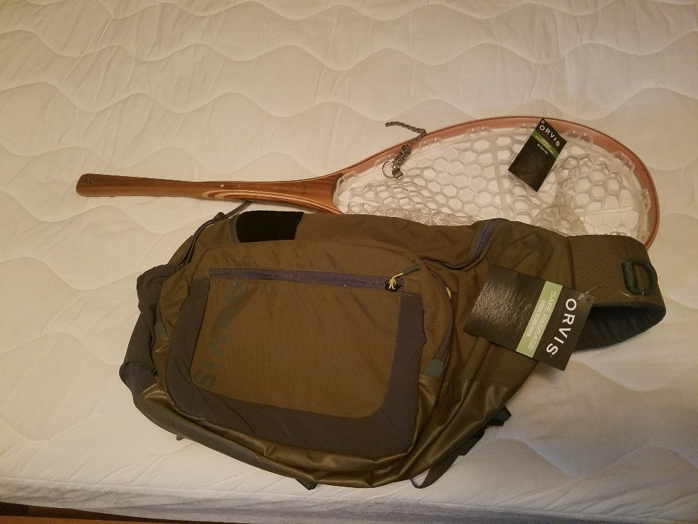 Orvis Sling Pack and Net