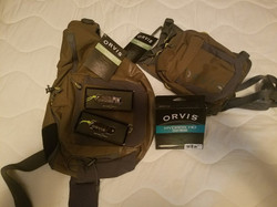 Orvis Packs, Fly Line, and Nippers