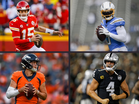 2020 NFL Quarterback Rankings by Division (AFC West Edition)