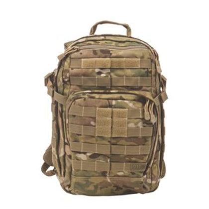 5.11 Tactical MultiCam Nylon Zip Closure RUSH12 Backpack
