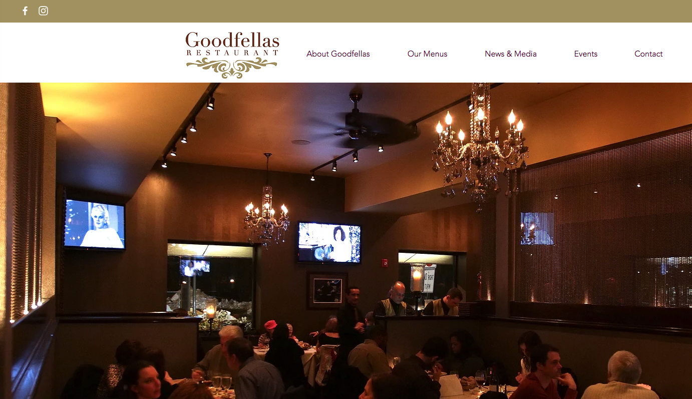 Goodfellas Website Design