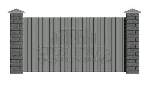 Столбы Brick+профлист, высота 1.5м(без монтажа)