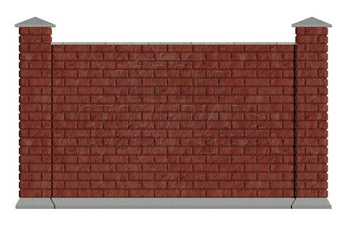 Забор Brick+фундамент, высота 1.5м(без монтажа)