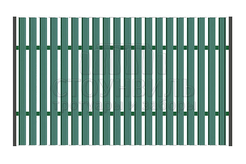 Забор из Евроштакетника+монтаж