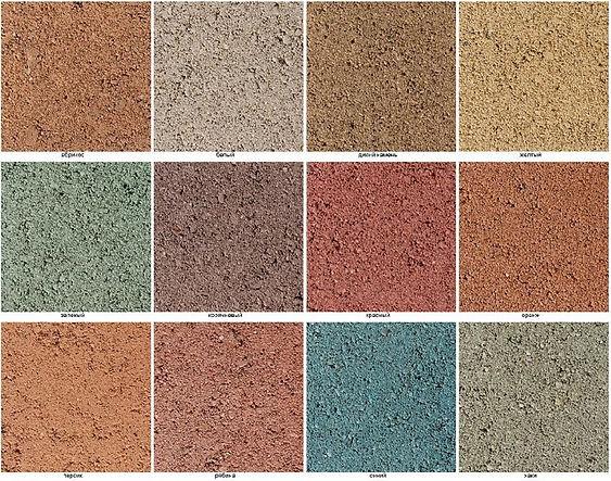 Оттенки плитки на белом цементе