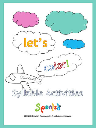 Coloring Series 1: Syllable Segmentation & Awareness (English)
