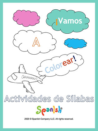 Coloring Series 1: Syllable Segmentation & Awareness (Spanish)
